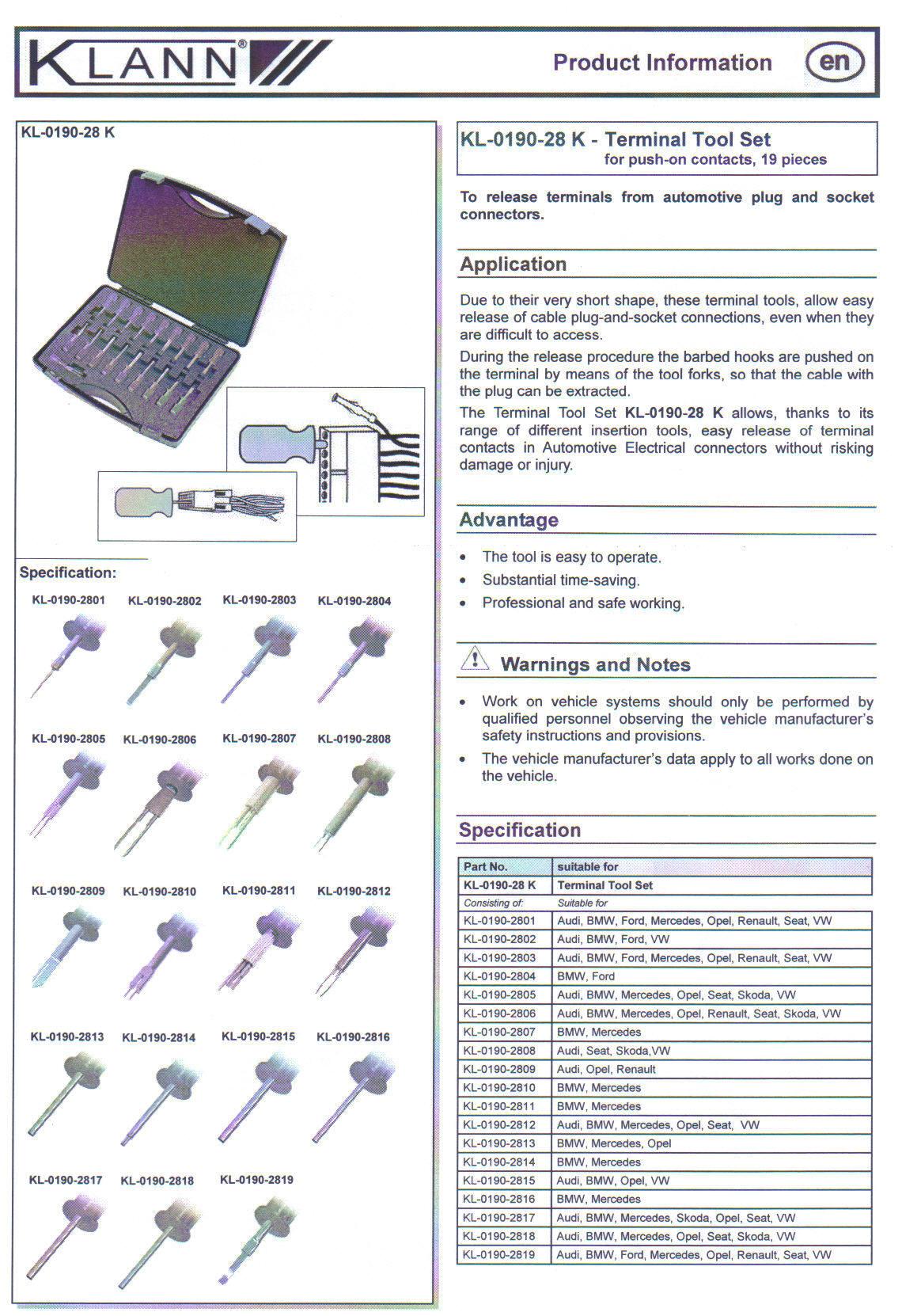 KL-0190-28-K-INFO